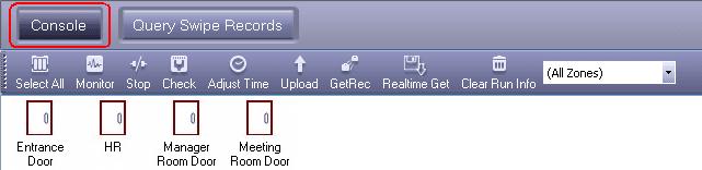 การจัดการ Console สำหรับ กล่องควบคุม Access Control