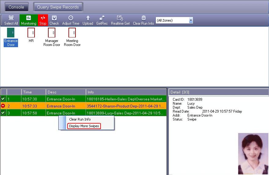 การดูข้อมูลแบบ Real Time สำหรับ กล่องควบคุม Access Control