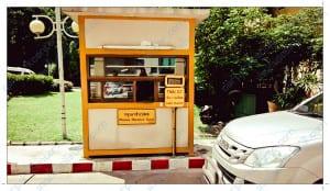 หอการค้าไทย-จีน บริเวณป้อมทาบบัตตร และไม้กั้นอัตโนมัติ