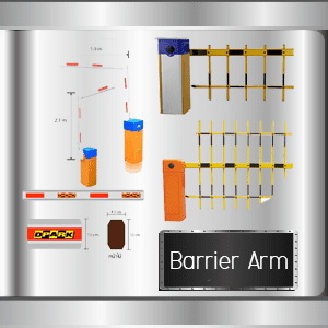 ตัวไม้ของไม้กั้น แขนไม้กั้น หรือ อาร์มไม้กั้นรถยนต์ barrier Arm