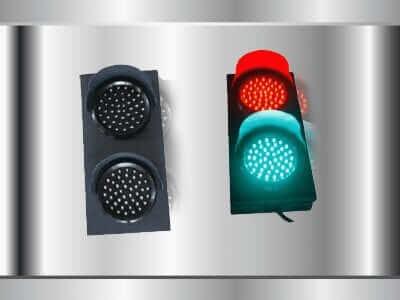 สัญญานไฟจราจร แบบสองดวงเขียวแดง
